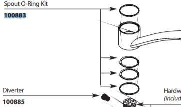 Moen 100883 Replacement Oring Kit Northshorefaucets Com